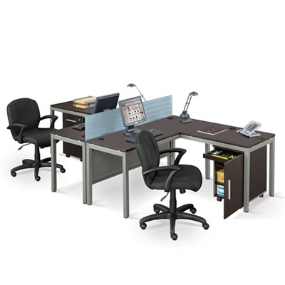 Delightful At Work Two Person Complete Compact Office, 14523