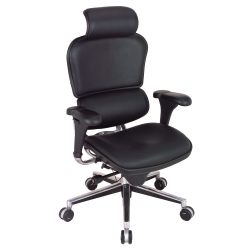 High Back Leather Chair with Headrest, 56509