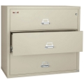 "Three Drawer Fireproof Lateral File - 44""W, 30166"