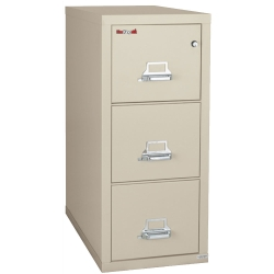 "Three Drawer Fireproof Legal Size Vertical File - 31""D, 34146"