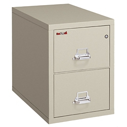 "Two Drawer Fireproof Legal Size Vertical File - 31""D, 34145"