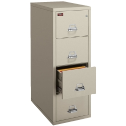 Two-Hour Rated Fireproof Four Drawer Vertical Letter File, 34303