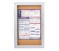 "Aluminum Frame Corkboard - 18"" x 24"", 80110"