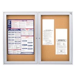 "Aluminum Frame Corkboard - 48"" x 36"", 80112"