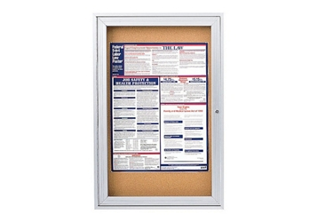 "Indoor Satin Aluminum Bulletin Board 36""x36"", 80739"