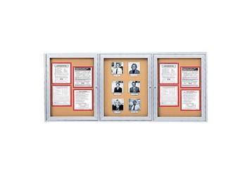 "Indoor Satin Aluminum Bulletin Board 96""x48"", 80742"