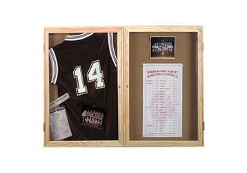 "Indoor Oak Bulletin Board 60""x36"", 80758"