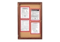 "Indoor Walnut Stain Bulletin Board 36""x36"", 80764"