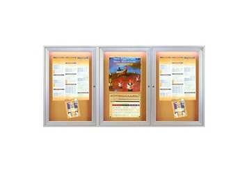 "Bulletin Board with Light 96"" x 48"", 80969"