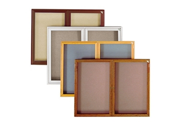"Walnut Frame Fabric Tackboard 48""wx36""h, 80803"