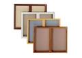 """Bronze Tone Fabric Tackboard 48""""wx36""""h, 80783"""