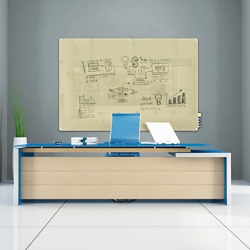 6' W x 4' H Radius Corner Glass Board, 80499