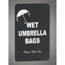 Wet Umbrella Bags Sign, 87168