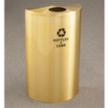 Satin Brass Half Round Bottles and Cans Receptacle with Steel Liner, 87172