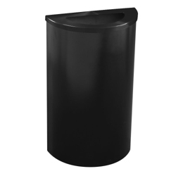 Half Round Waste Receptacle with Steel Liner, 87182
