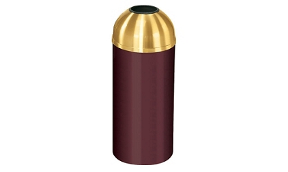Open Dome Top Trash Receptacle - 16 Gallon Capacity, 90358
