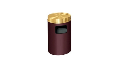 Side-Fill Flat Top Trash Receptacle - 19 Gallon Capacity, 90361