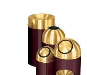 Tip-Closing Cover Trash Receptacle - 33 Gallon Capacity, 90362