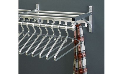 "Coat Rack with Shelf and Extra Hooks 48"" Long, 92120"