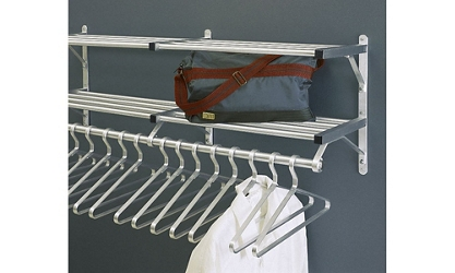 "Coat Rack with 2 Shelves and Extra Hooks 48"" Long, 92132"