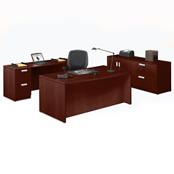 Contemporary Four Piece Executive Office Suite, 86042