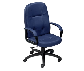 High-Back Chair in Premium Leather, 56466