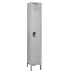 "Fully Assembled 15""W x 18""D x 78""H Antimicrobial 1 Tier Locker, 31004"