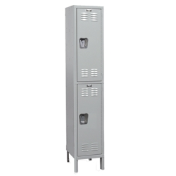 "15""W x 18""D x 78""H Antimicrobial 2 Person Single Tier Locker, 31005"
