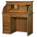 "Single Pedestal Compact Roll Top Desk - 42""W x 22""D, 13284"
