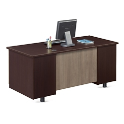 "Ascend Double Pedestal Compact Desk - 60""W, 13851"