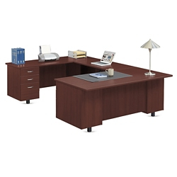 "Ascend U-Desk with Left Bridge - 72""W, 13871"