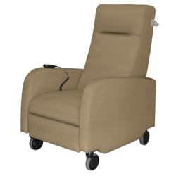 Haley Battery Powered Vinyl Patient Recliner with Aluminum Finish Push Bar, 25325