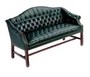 Traditional Leather Loveseat, 53307