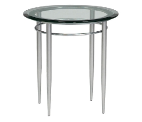 End Table with Round Glass Top, 53845