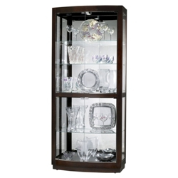 "Five Shelf Mirrored Back Display Cabinet - 82"" H, 36347"