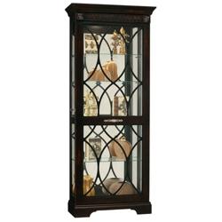 """Five Shelf Siding Door Display Cabinet - 78"""" H, 36348"""