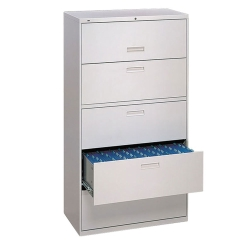 "500 Series 36""W Five Drawer Lateral File, 30708"