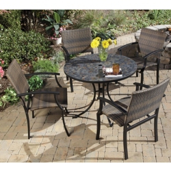 Five Piece Outdoor Patio Set with Arm Chair, 85195