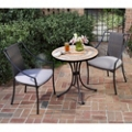 Three Piece Terra Cotta Outdoor Patio Set with Slope Arm Chairs, 85203