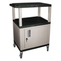 "34""H Utility Cart with Cabinet, 43179"