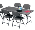 "Lightweight Rectangular Folding Table - 96"" x 30"", 41253"