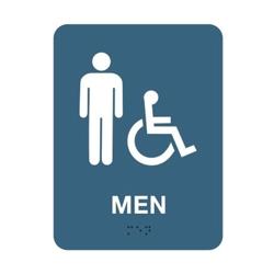 """Mens Handicap Restroom Sign - 6""""W x 8""""H, 25667"""