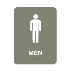 "Mens Restroom Sign - 6""W x 8""H, 25668"