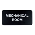 "Mechanical Room Sign - 8""W x 4""H, 25669"