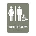 """Unisex Handicap Restroom Sign - 6""""W x 8""""H, 25672"""
