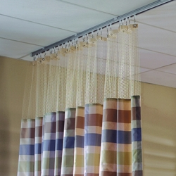 "Striped Print Privacy Curtain - 66""W x 86""H, 25682"