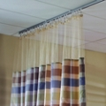 "Striped Print Privacy Curtain- 210""W x 74""H , 25826"