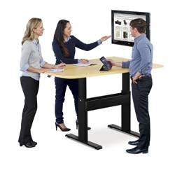 "Eleve Adjustable Height Media Table - 60""W x 42""D, 46096"