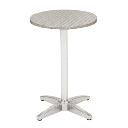 "32"" Round Bar-Height Stainless Steel Outdoor Table, 41454"