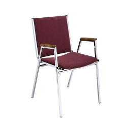 Designer Fabric Chrome Stack Chair, 50734